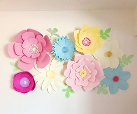 Giant Paper Flower Wall Decor