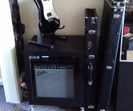 Guitar Amp and Accessories Storage (Ikea Hack)