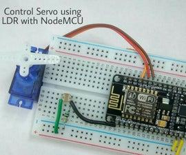 Control Servo Using LDR With NodeMCU