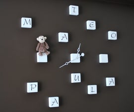 Block Letter Clock