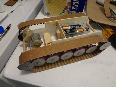 Making the Tracks, Wheels, Driving Hub Gears, Fitting Tracks in Place.
