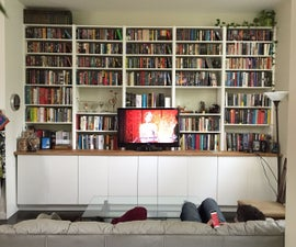 IKEA hack: Built-in cabinets and bookshelves
