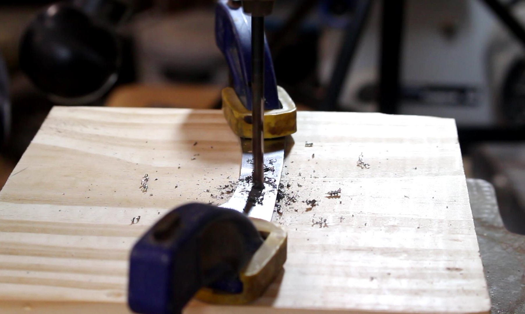 Picture of Drilling Pin Holes in Tang