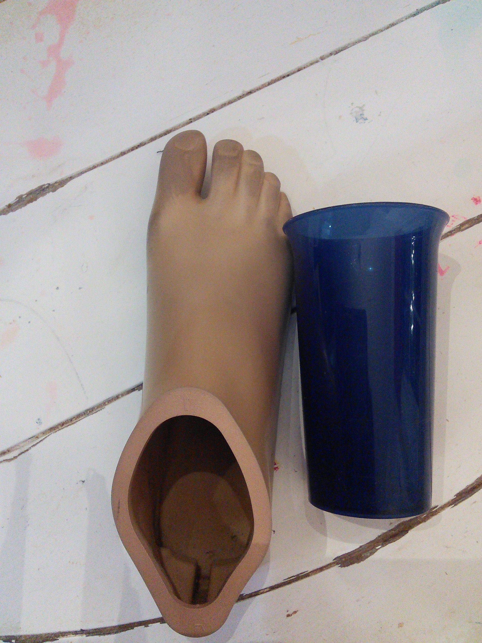 Picture of How to Make a Prosthetic Foot Drink Holder