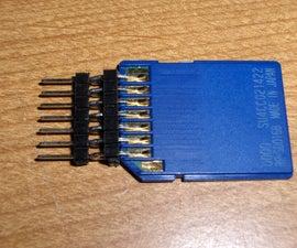 Cheap DIY SD Card Breadboard Socket