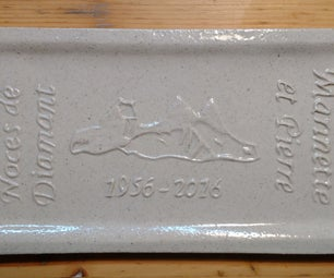 Embossed Message on Ceramic Gift for Special Celebration