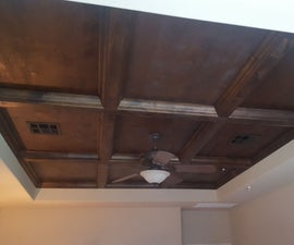 How to DIY a professional looking coffered ceiling for <$800 in materials