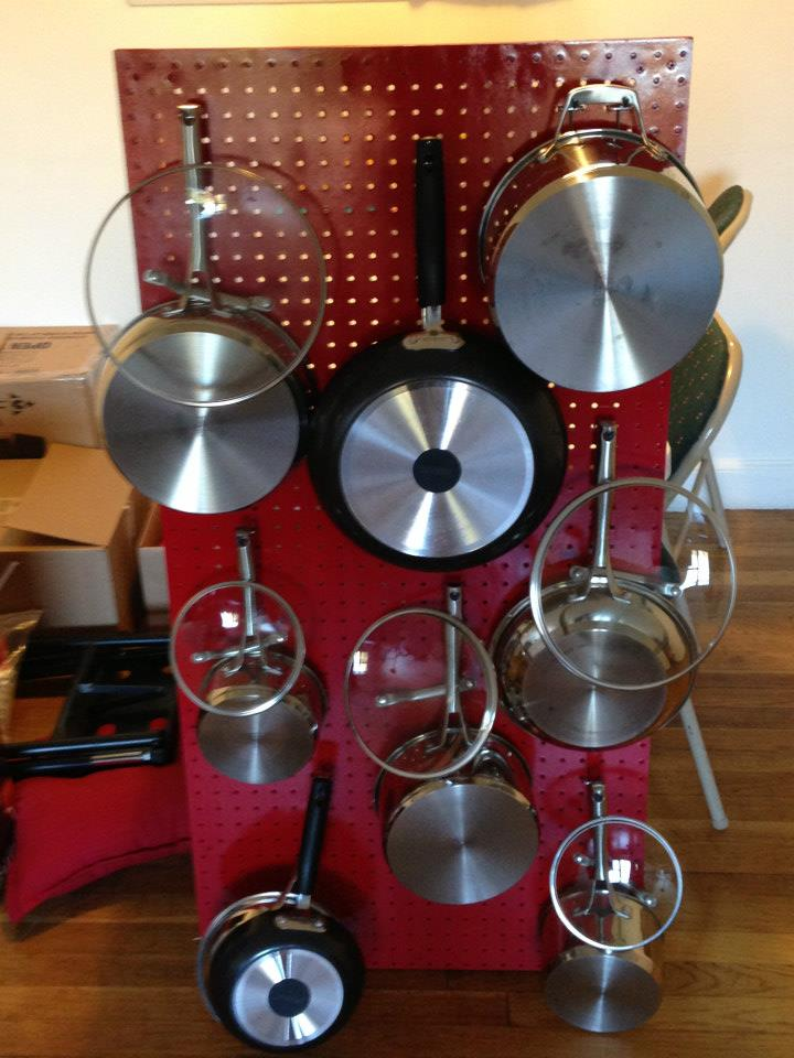 Picture of Quick & Easy Hanging Pegboard Pot & Pan Rack