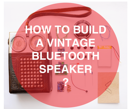 Bluetooth Speaker Made From Old Vintage Radio DIY Portable Speaker