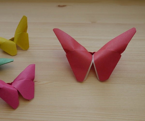 Origami. How to Make a Paper Butterfly (video Lesson)