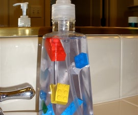 Float Legos in Your Liquid Soap Bottle