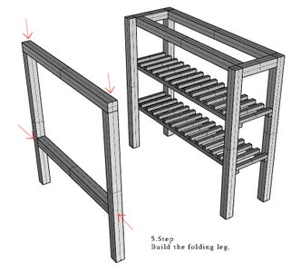 Building Folding Leg