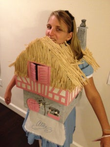 Alice in the White Rabbit's House Costume From Cardboard Boxes