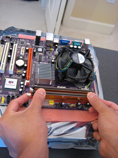 Picture of Installing Memory
