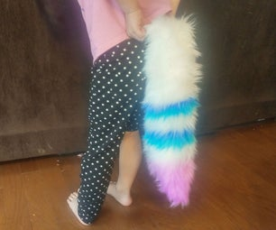 Deluxe Fluffy Tail for Cosplay (No Sew No Yarn)
