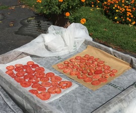 Repurposed Cold Frame Lid / Solar Dehydrator