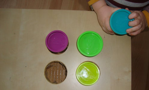 Make the Holes for the Play-doh Cups