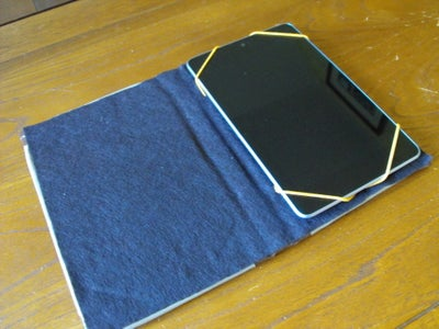 No-Kill / No-Sew (fake!) Book Cover for Tablets and EReaders