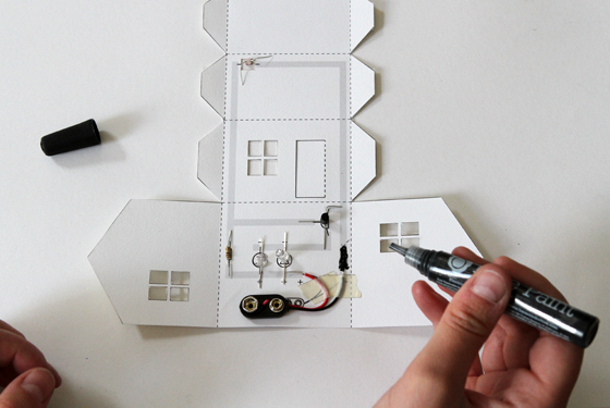 Picture of Step 7: Glue Your Components to the Paper With Bare Paint