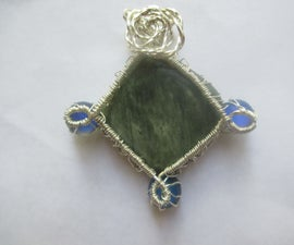 How to Wire Wrap a Square Pendant