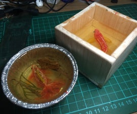Paperweight resin with 3d fish painting