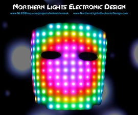 Wearable LED Matrix Face Mask