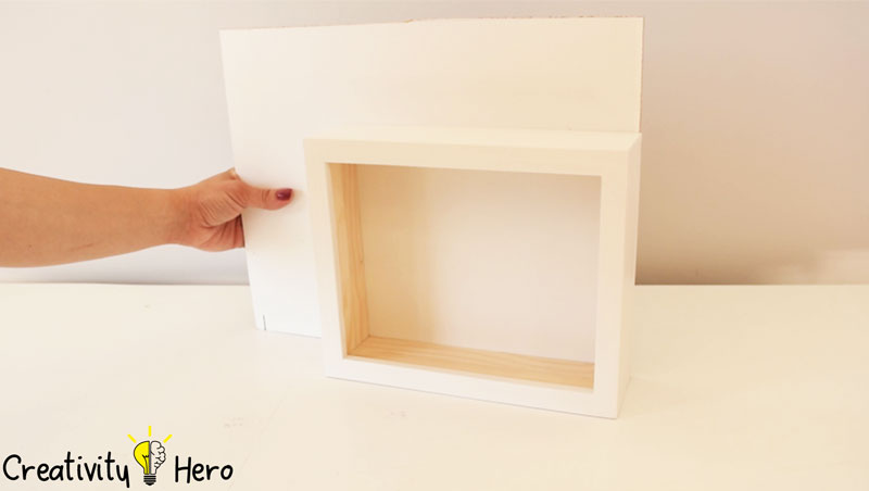 Picture of Make a Back for the Light Box.
