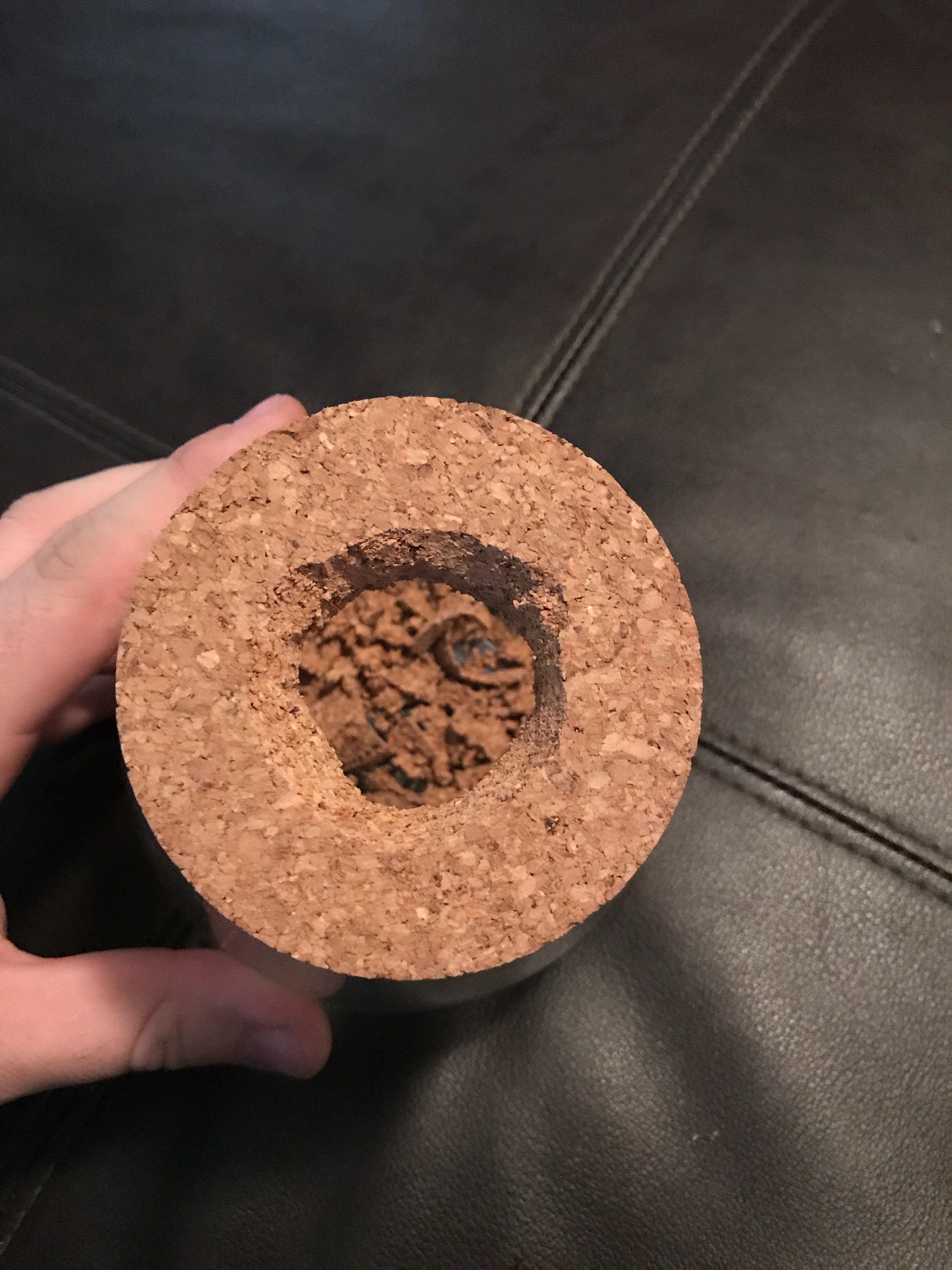 Picture of Step 1- Bore Hole in Cork Lid