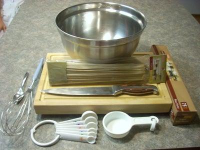 Ingredients, Utensils, Supplies