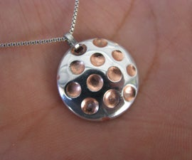 Zinc & Copper Pendant