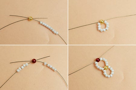 Make the First Part of the Seed Beads Bracelet
