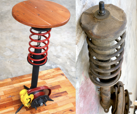 DIY Shock Absorber Stool