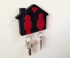 """""""他和她的""""激光切割钥匙圈"""