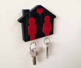 'His and Her' Laser Cut Keyring