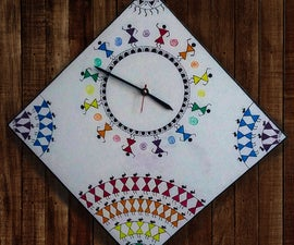 Warli Themed Wall Clock