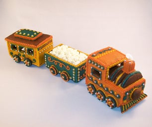 Moving Gingerbread Train Cookie