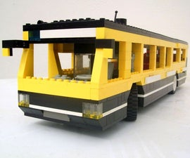 Lego geared bus with steering.
