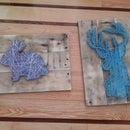 Nail String Art using reclaimed wood