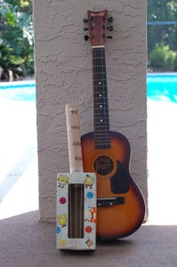 Make a Rainy Day Tissue Box Guitar! - Great for Kids