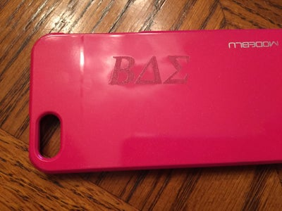 Engraving on a Plastic Cell Phone Case...