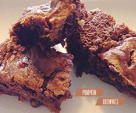 ☻ Pumpkin Brownies Recipe