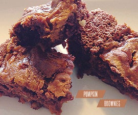☻ Pumpkin Brownies Recipe