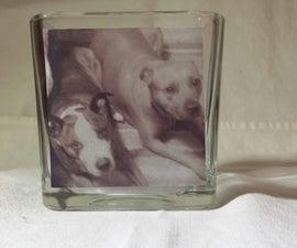 Photo Cube Candle Holder