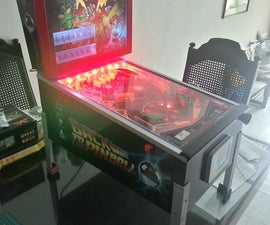 Desktop analogue pinball machine