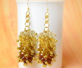 How to Make Ombre Crystal Cluster Earrings