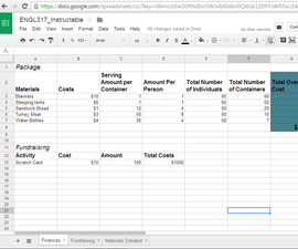How to do Initial Planning for Service Work Using Google Drive Spreadsheet