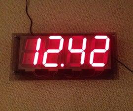 Large 7 Segment Clock