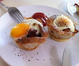 Egg and Bacon in bread cups - Natalie's Creations