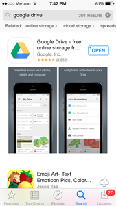 Exporting to Google Drive to Use on a Smartphone