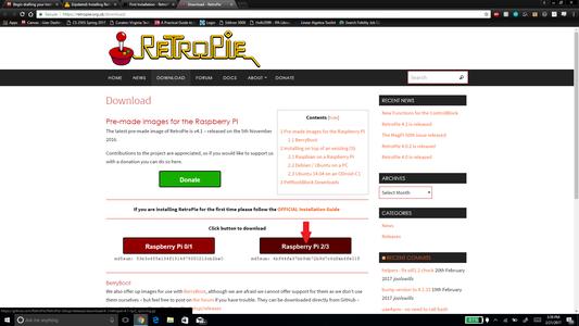 Download the RetroPie SD Image